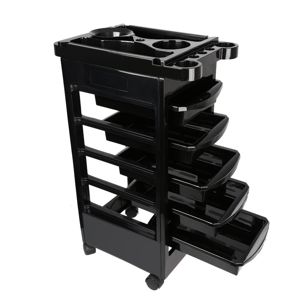 Salon 5 Drawers Hairdressing Trolley Hair Coloring Rolling Storage Cart  Professional Barber Hairdresser Trolley Storage Tool