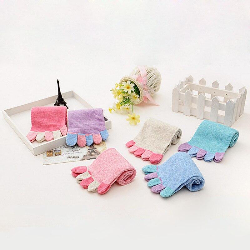 Fashion Lady Women Five Finger Socks Colored Cotton 5 Toe Socks Comfortable Candy Color Womens Girl Cotton Socks