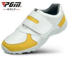 PGM PU Водонепроницаемый детская Гольф обувь противоскользящей дышащая спортивная детская Гольф обуви Обувь для мальчиков Обувь для девочек Спортивная обувь Four Seasons 4 цвета