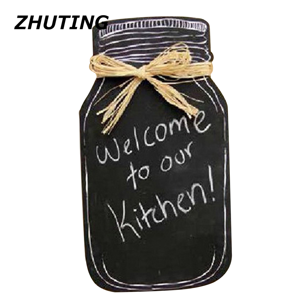 Writing Hint Board Milk Bottle-shaped Hanging Message Board Wooden Blackboard Family Kitchen