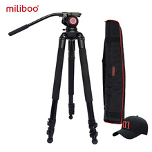 miliboo MTT701A Portable Aluminium tripod for Professional Camcorder Video Camera DSLR Tripod Stand with Hydraulic Ball