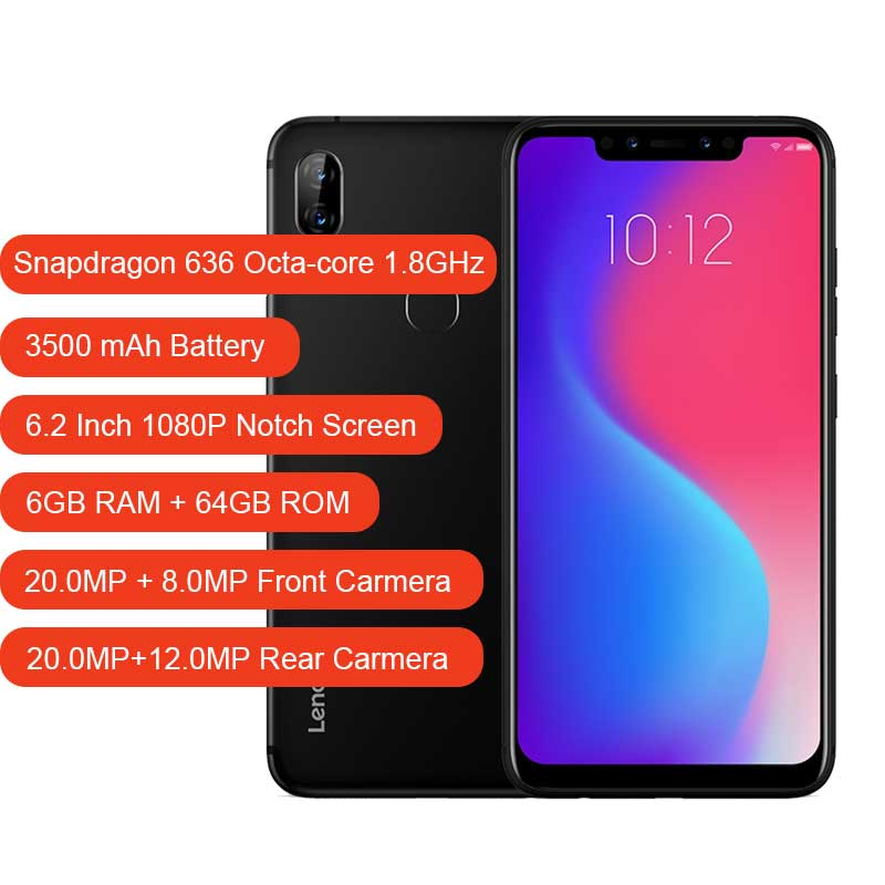 Image 2 - Lenovo S5 Pro 6G 64G Global Version 20.0MP Rear Camera Snapdragon 636 Octa Core 1.8GHz 3500mAh Battery Face ID Mobile phone-in Cellphones from Cellphones & Telecommunications