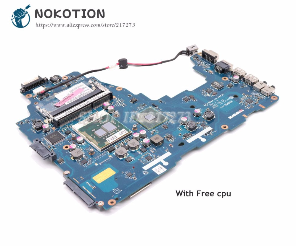 NOKOTION For Toshiba C660 Laptop Motherboard DDR3 K000111440 PWWAA LA-6842P Main Board HM55 DDR3 Free CPU image