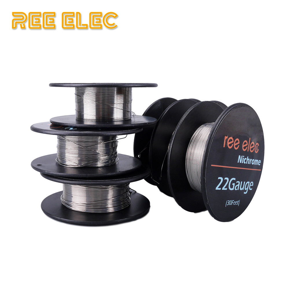 REE ELEC 10m/roll Ni80 Electronic Cigarette Heating Wire For RDA RTA Atomizer For DIY Prebuilt Coil Nichrome Wires 50ft long 0 7mm awg21 gauge nichrome resistor wire for frigidaire heater