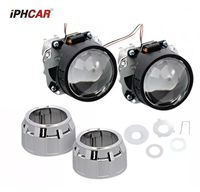 2pcs 2 5inch Bi Xenon Bi Xenon Projector Lens With Shrouds H1 H4 H7 Motorcycle Car