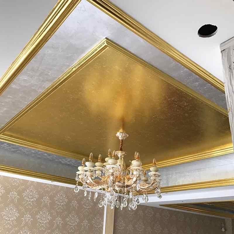 100Pcs Art CRAFT กระดาษออกแบบ Imitation GOLD Sliver ทองแดงใบแผ่นกระดาษฟอยล์สำหรับ Gilding DIY Craft ตกแต่ง 40