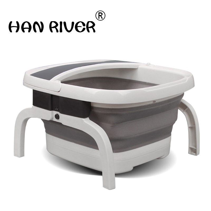 Folding foot tub electric heating surf massage foot bath wash footbath household double constant temperature