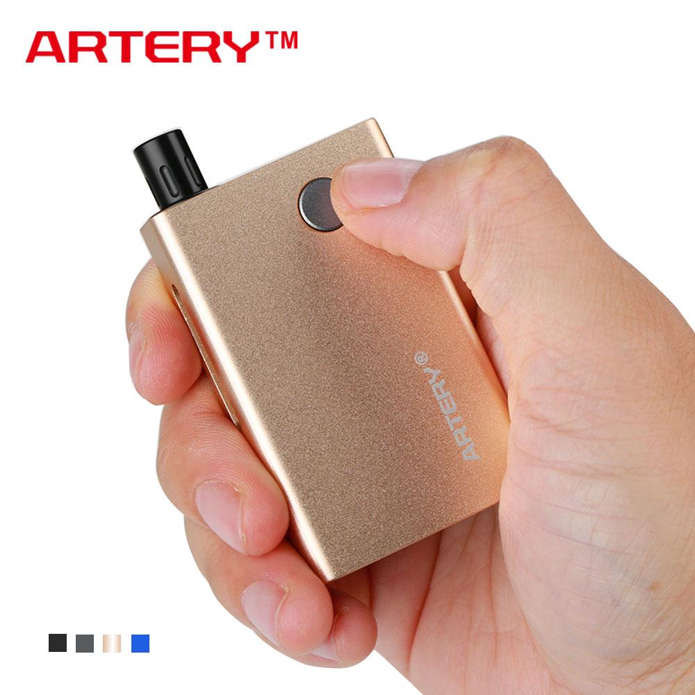 1000mAh Artery PAL Mini Starter Kit 1.1ml Pod Capacity with 1.6ohm Ceramic Wicked Pod & 1.0ohm Organic Cotton Wicked Pod E-cig wicked