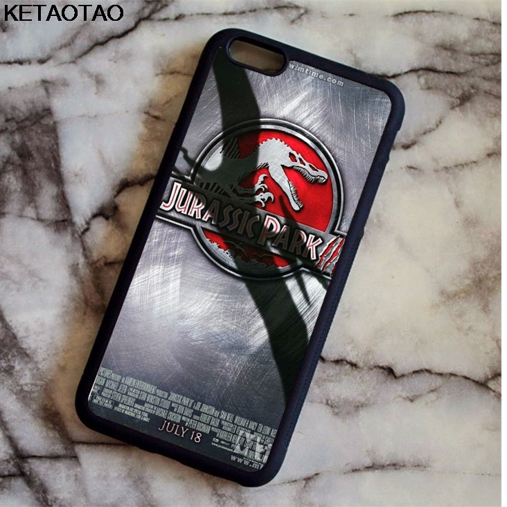 KETAOTAO Dinosaur 3D Jurassic Park Phone Cases for iPhone 4S 5C 5S 6 6S 7 8 Plus X for Samsung S8 Case Soft TPU Rubber Silicone