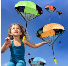 Random color Hand Throwing kids mini play parachute toy Outdoor sports Children s Educational Toys