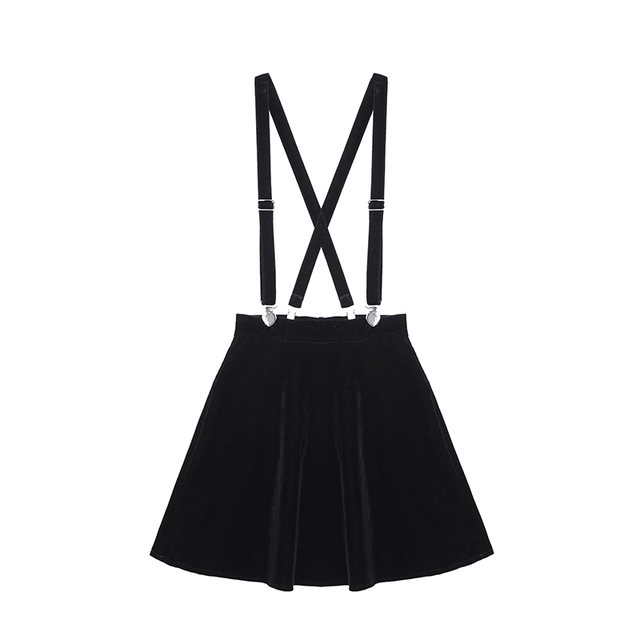 a4fb8b07f4cd98 Damska spódnica Harajuku aksamitne Punk miłość klip pasek spódnica dla  kobiet panie Mini spódnice czarny