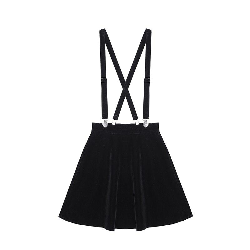 De la mujer falda Harajuku de Punk amor Clip Correa falda para mujer damas Mini faldas