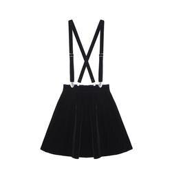 Женская юбка Harajuku бархат Панк Любовь клип ремень для женщин женские мини-юбки Черный