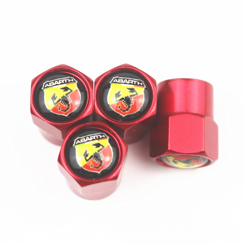 Excellent 4pcs/set New Car Tire Valve Caps For Abarth 500 124 For Fiat Punto Ducato Palio Bravo Tipo Emblems Badge