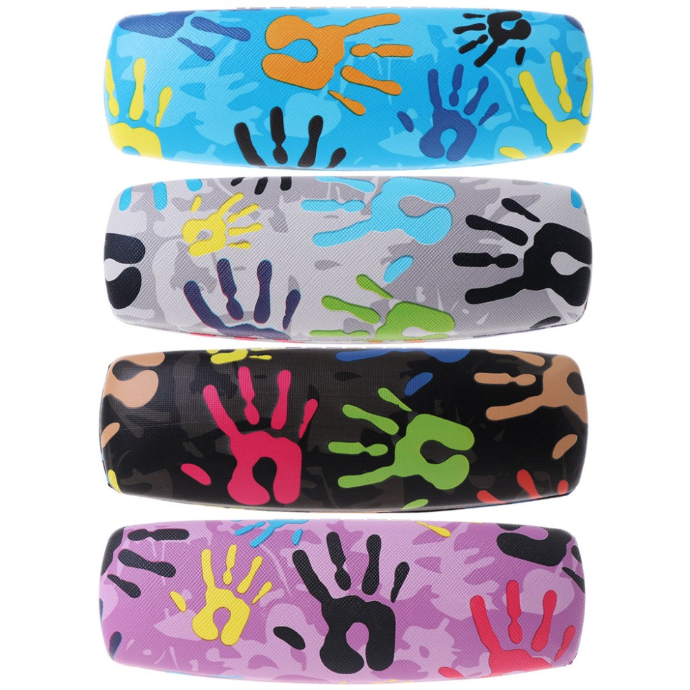 Fashion Glasses Box Palm Painting Reading Sunglasses Case Eyewear Storage Cool