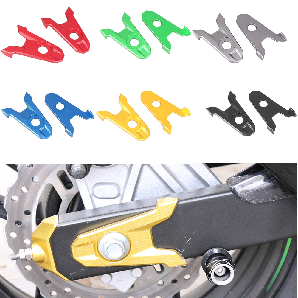Knight For Kawasaki Z800 2013 2014 2015 2016 Motorcycle Accessories CNC Aluminum Rear Axle Spindle Chain Adjuster Blocks 7 Color