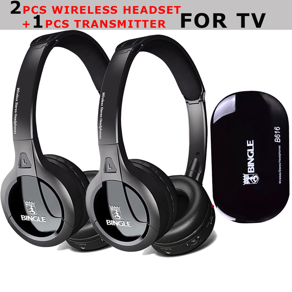 Bingle B616 New Noise Cancelling FM Radio PC Smartphone Silent Disco Party TV Wireless Headsets Audifonos Auricular Headphone