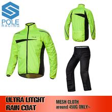 Сетка Полотна модная уличная спортивная куртка мужчины водонепроницаемый плащ-дождевик костюм износостойкости мотоцикл плащ, Ultra Light