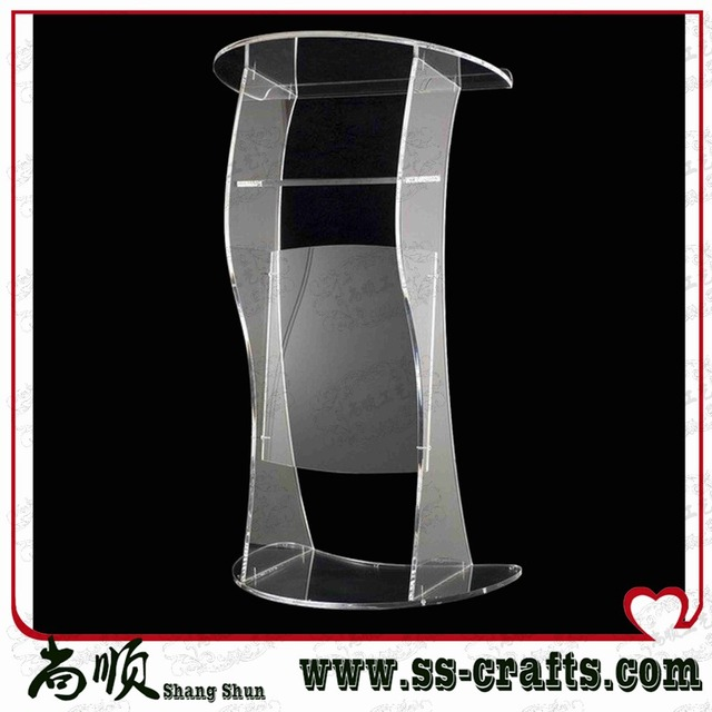 Modern Design Factory Sale Transparent Crystal Acrylic Lectern