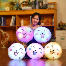 Plush-Toy Round-Pillow Lumious-Lighting Glowing Soft Gift Kawaii 1pc 33cm Five-Colors
