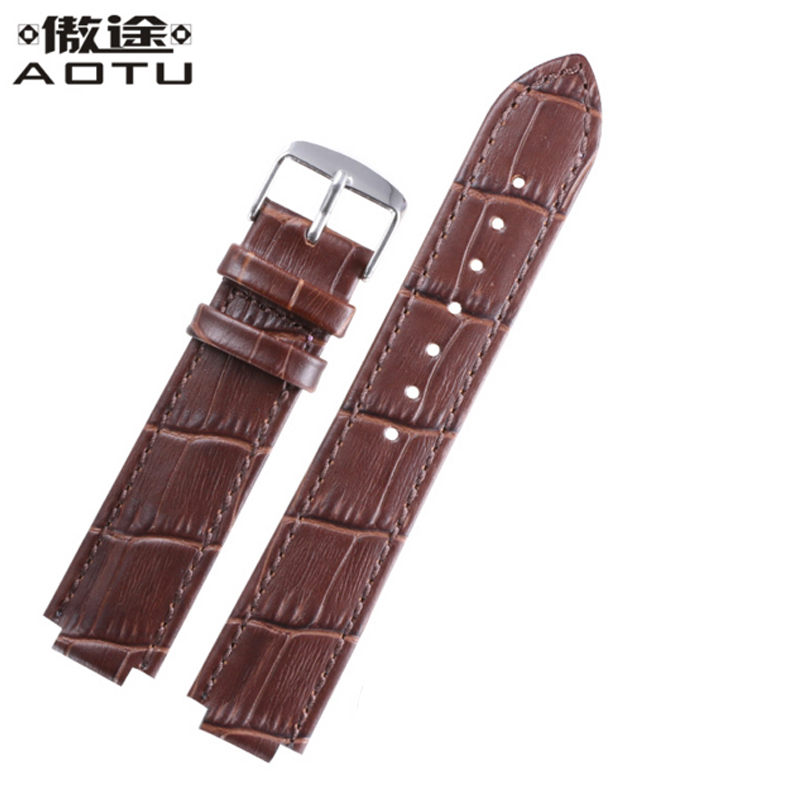 Genuine Leather Watchbands For Mido M1130 M2130/CARTIER BALLON BLEU DE CARTIER Ladies Watch Bracelet Men Retro Watch Strap Belt