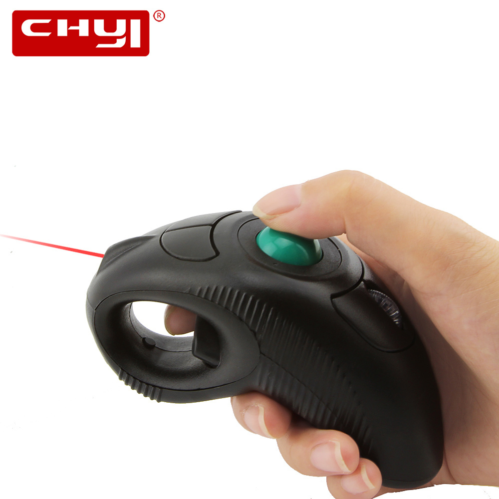 CHYI 2.4G Wireless Air Laser Pointer Mouse Handheld Trackball 1600 DPI PPT Presentation Mause For Teacher projector PC Computer