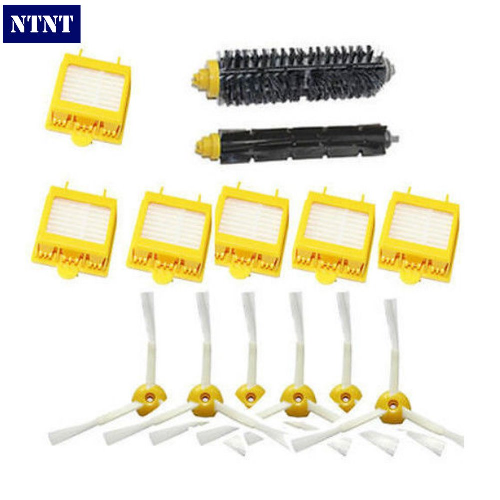 купить NTNT Free Post New Filters Brush 3-armed Side Kit for iRobot Roomba 700 Series 760 770 780 дешево