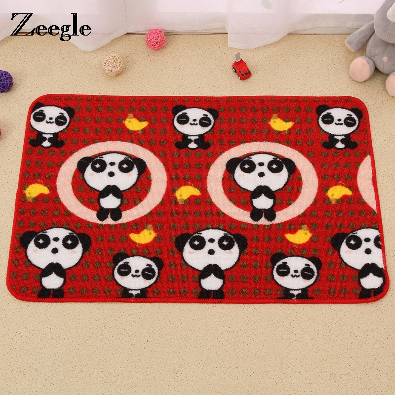 Zeegle Animal Pattern Absorbent Bathroom Bath Mats Non-slip Cartoon Childrens Bedroom Carpet Rub Cushion Welcome Door Mats