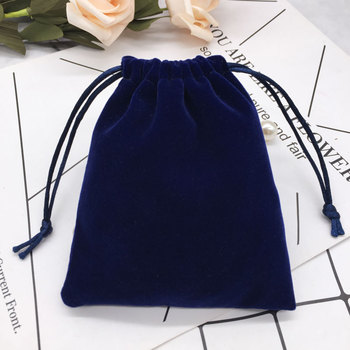 wholesale 8*12cm velvet jewelry drawstring bag pouch for gift ornament toiletry phone necklace bracelet crystal packing