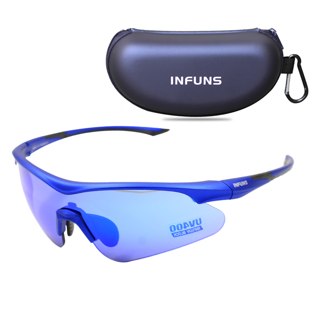 New Safety Glasses With Case Protective Anti Scratch Anti-fog Z87+ Ballistic UV 400 Sports Glasses For Cycling Running