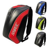 SSPEC Waterproof Motorcycle Backpack Shoulders Bags Carbon Fiber Protection Reflective Design Helmet Backpack Luggage