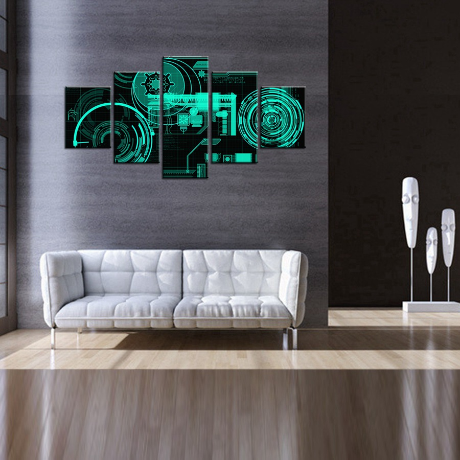 Ultra Modern Electronic Technology Component 3D Oil Painting Canvas for Living Room Decor Waterproof Boys Bedroom Wall Art