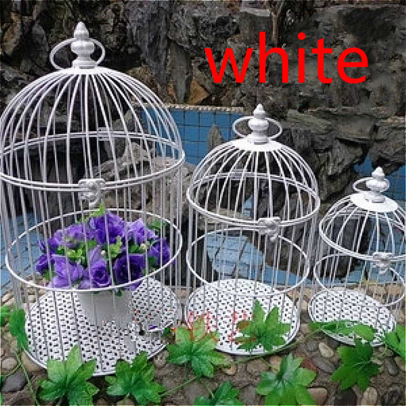 European iron Decoration birdcage exquisite hanging small birdcage wedding photography prop bar Decoration birds cage