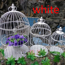 European iron Decoration birdcage exquisite hanging small birdcage wedding photography prop bar Decoration birds cage поло print bar cage birds