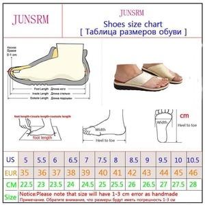 Image 5 - Женская обувь из искусственной кожи на плоской подошве, повседневные мягкие сандалии для коррекции стопы с большим носком, ортопедический корректор, новинка 2019