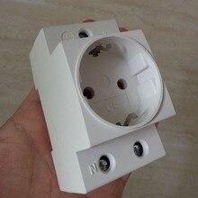 ЕС гнездо 35 мм DIN рейку AC мощность ac30 модульная розетка 10/16A 250 В AC разъем