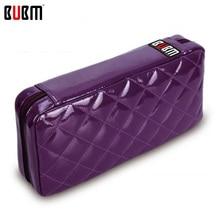 BUBM CD/DVD сумка кошелек trainborn бытовой CD Сумки Большая емкость 64 шт. CD пакет Пурпурная роза черный кожзаменитель lether крышка
