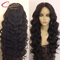 180% Density Deep Wave Human Hair Full Lace Wig Baby Hair Virgin Malaysian Human Hair Glueless Lace Front Wigs For Black Women