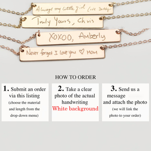 Image 5 - Ожерелье для рукописного ввода, настоящие украшения для рукописного ввода, ручная работа, Золотое заполнение, подвеска, чокер, женское украшение
