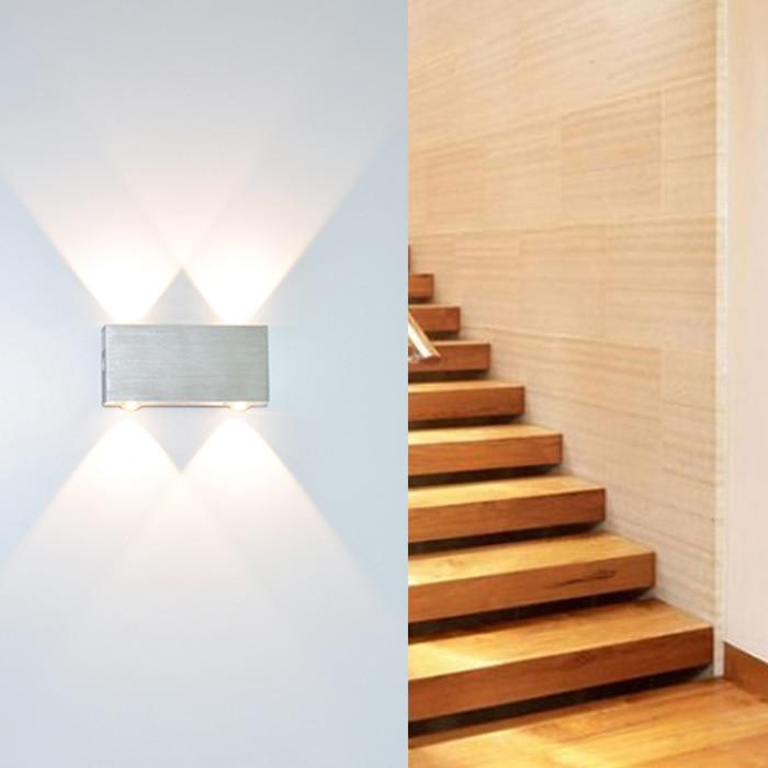 შიდა კედლის ნათურები 2W 3W 4W 6W 8W Sconce ზედაპირზე დამონტაჟებული სვიტერი თანამედროვე კედლის მსუბუქი მისაღები ოთახი ვერანდა ბაღის ნათურა AC90-260V