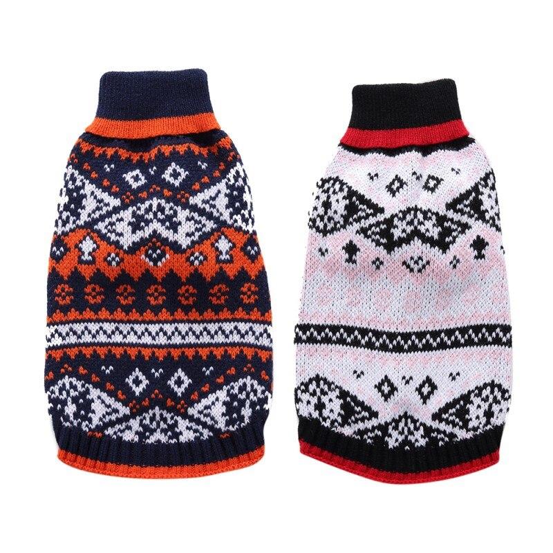 Fair Isle Christmas Sweater.Us 3 28 30 Off Dog Christmas Sweater Pet Holiday Season Nordic Fair Isle Snowflake Dog Sweater Pet Sweater Autumn Winter Dog Clothes In Dog Sweaters