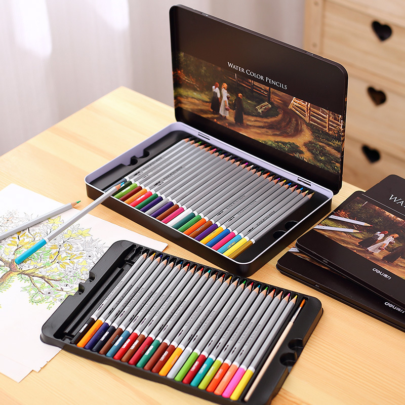 Eval 24 36 48 72 Colored Pencil Set Water Color Pencils High Quality Children Student Artist Painting Pencil Watercolor Pen Art faber castell fashion colored pencils artist painting oily color pencil set for student drawing 36 48 72 colors free shipping