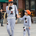 2017 Family Clothing Set Clothes Casual Cotton Character Hoodies Matching Mother And Daughter Hoodies Suits Plus Size
