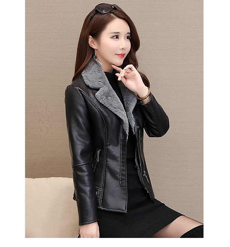 New Woman Coats Spring and Winter 2019 Harajuku Coat Streetwear Jackets Clothes Plus Size Solid Color Womens Tops Fake Leather