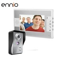 """ENNIO SY812MKW11 7 """"mini Color de la cámara de vídeo ip de teléfono Sistemas de Intercomunicación Timbre de la Puerta Exterior de La Puerta de Entrada de red Cámara microscopio"""