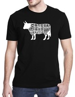Free Shipping 2018 Cow Beef Meat Cuts T Shirt Funny Printing T Shirts Men Short Sleeve