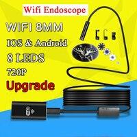 8 мм 1/3/5/7 M WI-FI эндоскопа Камера мини Водонепроницаемый мягкие проверка кабеля Камера USB эндоскопа бороскоп IOS эндоскоп для Iphone