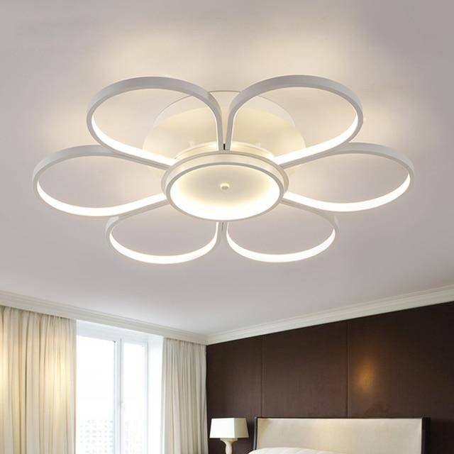 New white led lampadari moderni lamparas lampada per - Lampadari per camera da letto ...
