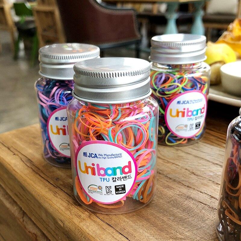 1 Box Gifts Baby Girl Disposable TPU Hair Accessories Rope Tie Gum Children Kids Elastics Rubber Hair Bands Accessories Headwear