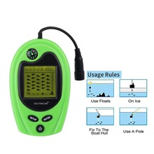 Fish Alarm Fish Finders FF818 Echo Sounders For Ice Ocean Deeper Fishing Finders FindFish Sonar Sensor Pesca Fish Finder Lucky